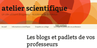blog atelier scientifique